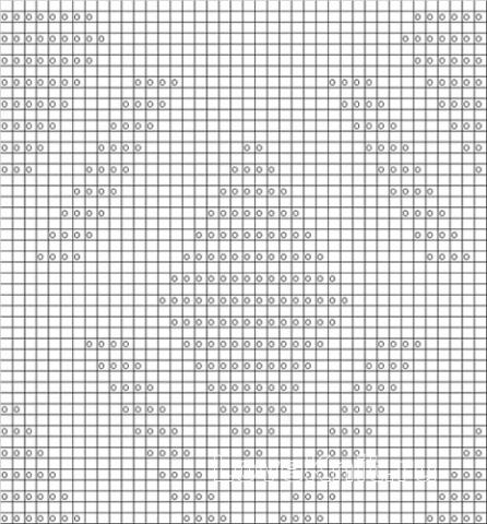Описание вязания к плотный узор №4033 спицами