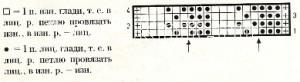 Описание вязания к узор рельефный №1665 спицами