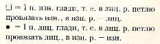Описание вязания к узор рельефный №1666 спицами