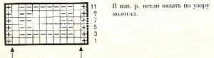 Описание вязания к узор рельефный  №1683 спицами