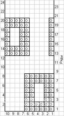 Описание вязания к узор платочная вязка №4036 спицами