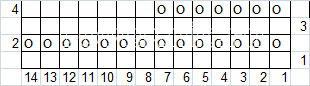 Описание вязания к плотный узор №4042 спицами