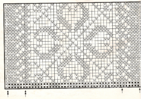 Описание вязания к узор жаккардовый №1755 спицами