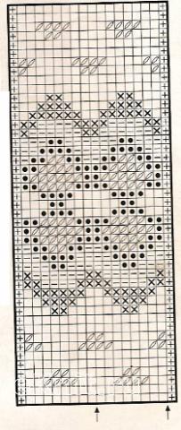 Описание вязания к узор жаккардовый №1759 спицами