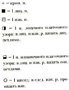 Описание вязания к узор рельефный №1658 спицами