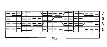Описание вязания к рельефный узор №3758 спицами