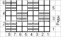 Описание вязания к рельефный узор №4056 спицами