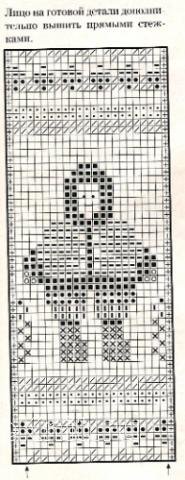 Описание вязания к узор жаккардовый №1742 спицами