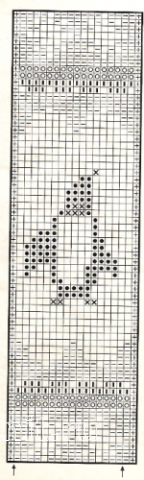 Описание вязания к узор жаккардовый №1744 спицами