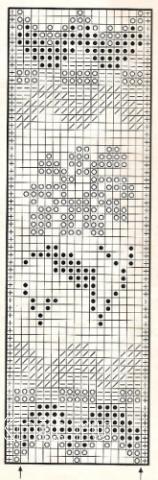 Описание вязания к узор жаккардовый №1746 спицами