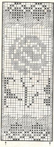 Описание вязания к узор жаккардовый №1749 спицами