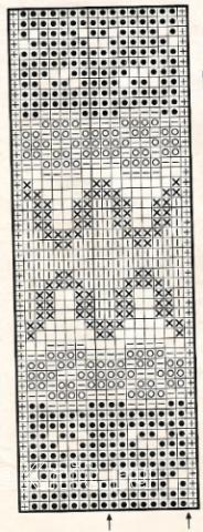 Описание вязания к узор жаккардовый №1757 спицами