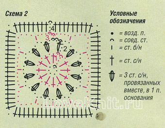 Описание вязания к узор №1445