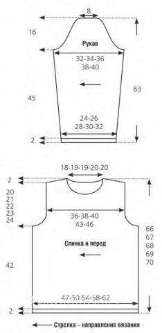 Схема вязания пуловер для мужчины с контрастной вставкой раздел для мужчин кофты для мужчин