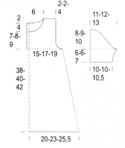 Схема вязания ажурная туника дл девочки с волнистым краем раздел для детей детские кофты, жакеты и тд