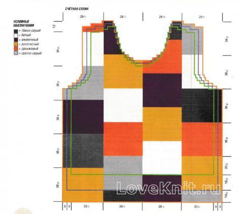 Схема вязания цветной джемпер из квадратов раздел для детей детские кофты, жакеты и тд
