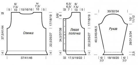 Схема вязания цветной жакет с отложным воротничком раздел для детей детские кофты, жакеты и тд