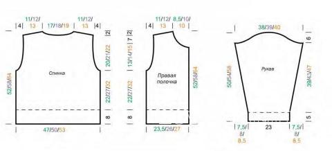 Схема вязания цветной жакет с узорами из снятых петель раздел для детей детские кофты, жакеты и тд