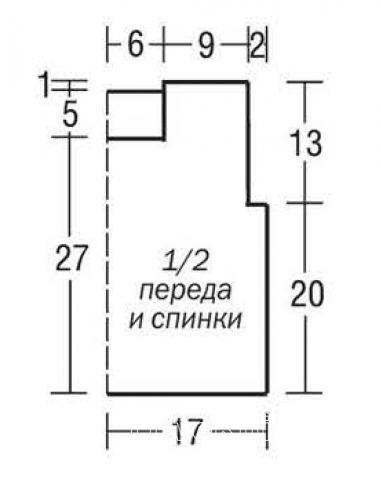 Схема вязания детская безрукавка с квадратным вырезом раздел для детей детские кофты, жакеты и тд