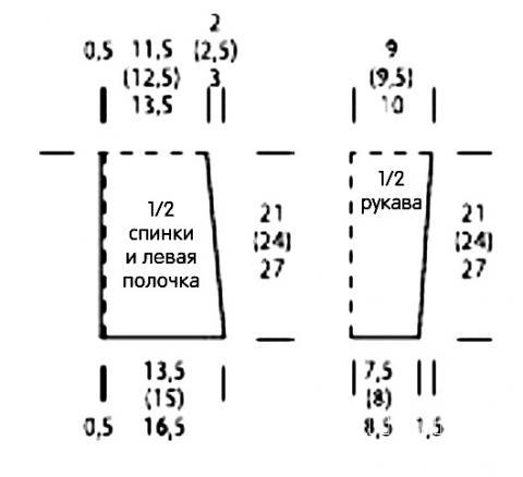Схема вязания детская кофта реглан и шапочка раздел для детей детские кофты, жакеты и тд