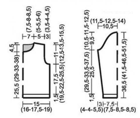Схема вязания детская кофта с сердечками раздел для детей детские кофты, жакеты и тд