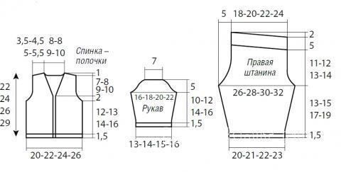 Схема вязания детские штанишки и кофта с аппликацией раздел для детей детские кофты, жакеты и тд