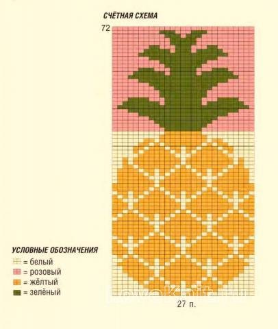 Схема вязания детский двухцветный джемпер с ананасом раздел для детей детские кофты, жакеты и тд