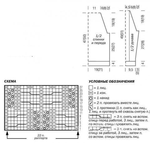 Схема вязания детский джемпер с центральной косой раздел для детей детские кофты, жакеты и тд