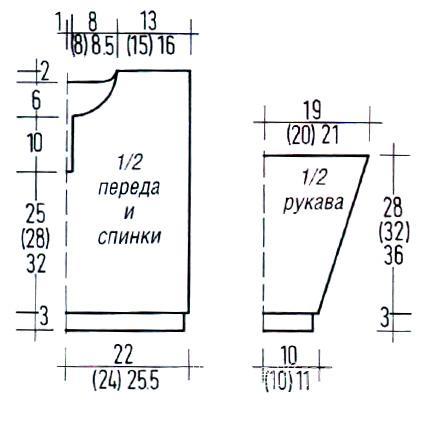 Схема вязания детский джемпер с воротничком поло раздел для детей детские кофты, жакеты и тд