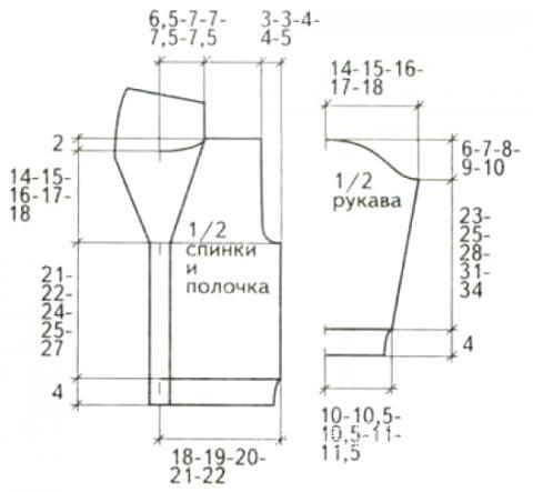 Схема вязания детский кардиган с отложным воротником раздел для детей детские кофты, жакеты и тд