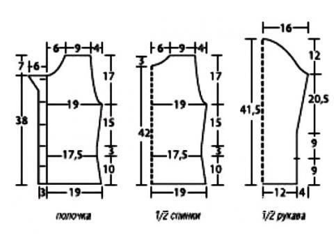 Схема вязания детский коричневый жакет раздел для детей детские кофты, жакеты и тд