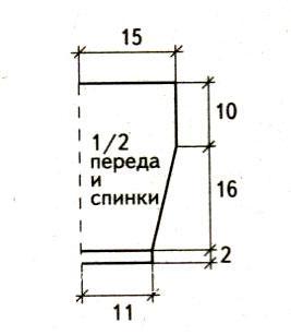 Схема вязания детский короткий топ с рисунком раздел для детей детские кофты, жакеты и тд