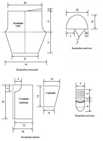 Схема вязания детский костюм: жакет, штанишки, шапочка и носочки раздел для детей детские кофты, жакеты и тд