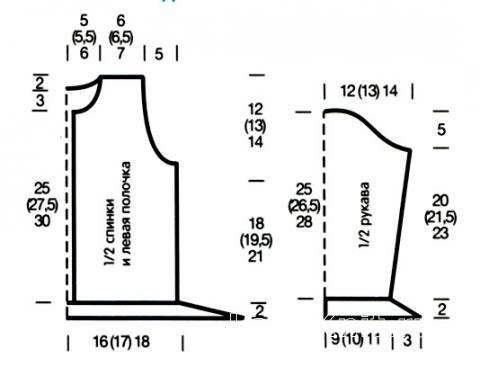 Схема вязания детский полосатый жакет раздел для детей детские кофты, жакеты и тд