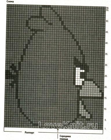 Схема вязания детский пуловер с рисунком angry bird раздел для детей детские кофты, жакеты и тд