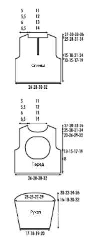 Схема вязания детский синий пуловер с игрушкой (овечка) раздел для детей детские кофты, жакеты и тд