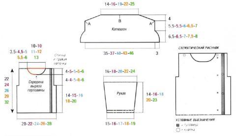 Схема вязания детский свитер с капюшоном раздел для детей детские кофты, жакеты и тд