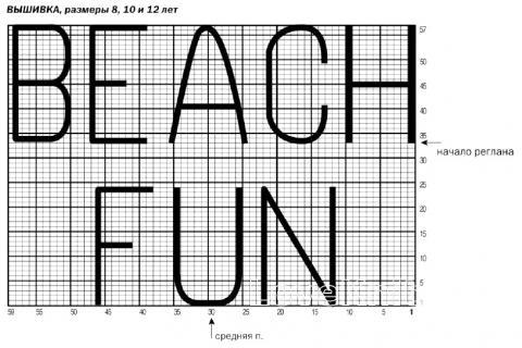 Схема вязания детский топ с надписью раздел для детей детские кофты, жакеты и тд
