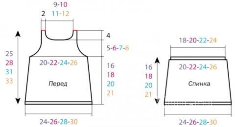 Схема вязания детский топ с перекрещивающимися лямками на спине раздел для детей детские кофты, жакеты и тд