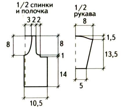Схема вязания детский жакет с ажурным узором раздел для детей детские кофты, жакеты и тд