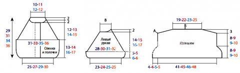 Схема вязания детский жакет с большим капюшоном раздел для детей детские кофты, жакеты и тд