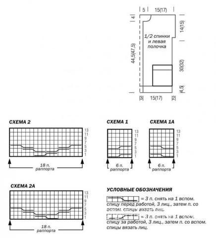 Схема вязания детский жакет с контрастной отделкой и карманами раздел для детей детские кофты, жакеты и тд