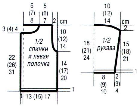Схема вязания детский жакет на пуговицах с контрастной отделой раздел для детей детские кофты, жакеты и тд