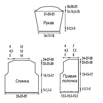 Схема вязания детский жакет на пуговицах раздел для детей детские кофты, жакеты и тд