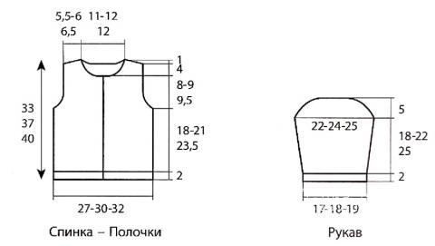 Схема вязания детский жакет с рисунком раздел для детей детские кофты, жакеты и тд
