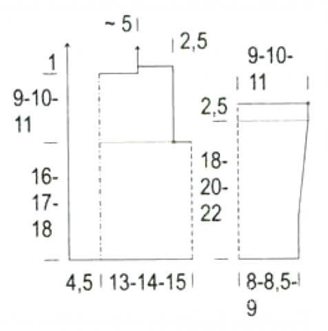 Схема вязания двубортная детская кофта с капюшоном раздел для детей детские кофты, жакеты и тд
