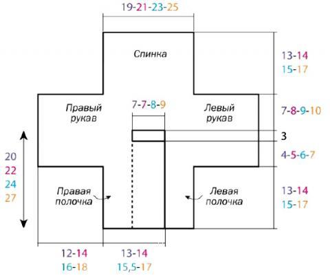 Схема вязания двубортный жакет для ребенка раздел для детей детские кофты, жакеты и тд