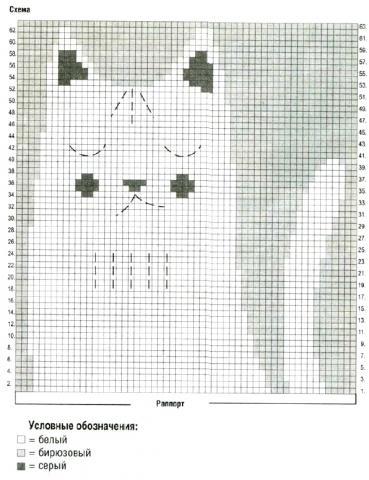 """Схема вязания джемпер для девочки с рисунком """"кошка"""" раздел для детей детские кофты, жакеты и тд"""