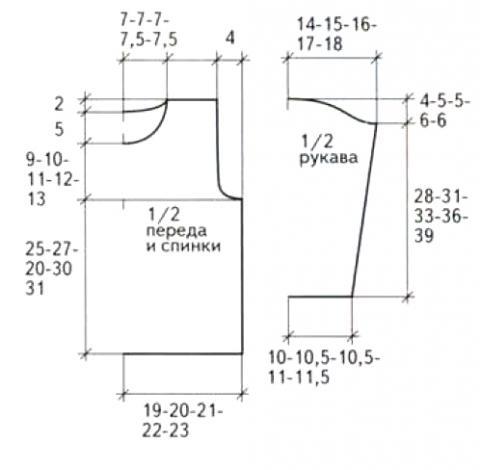 Схема вязания джемпер для мальчика с центральной косой раздел для детей детские кофты, жакеты и тд