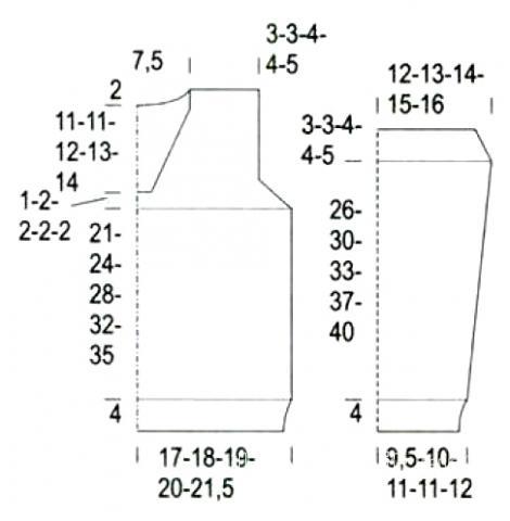 Схема вязания джемпер для мальчика с v-образной горловиной раздел для детей детские кофты, жакеты и тд